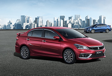 Ciaz pearl sangria red colour